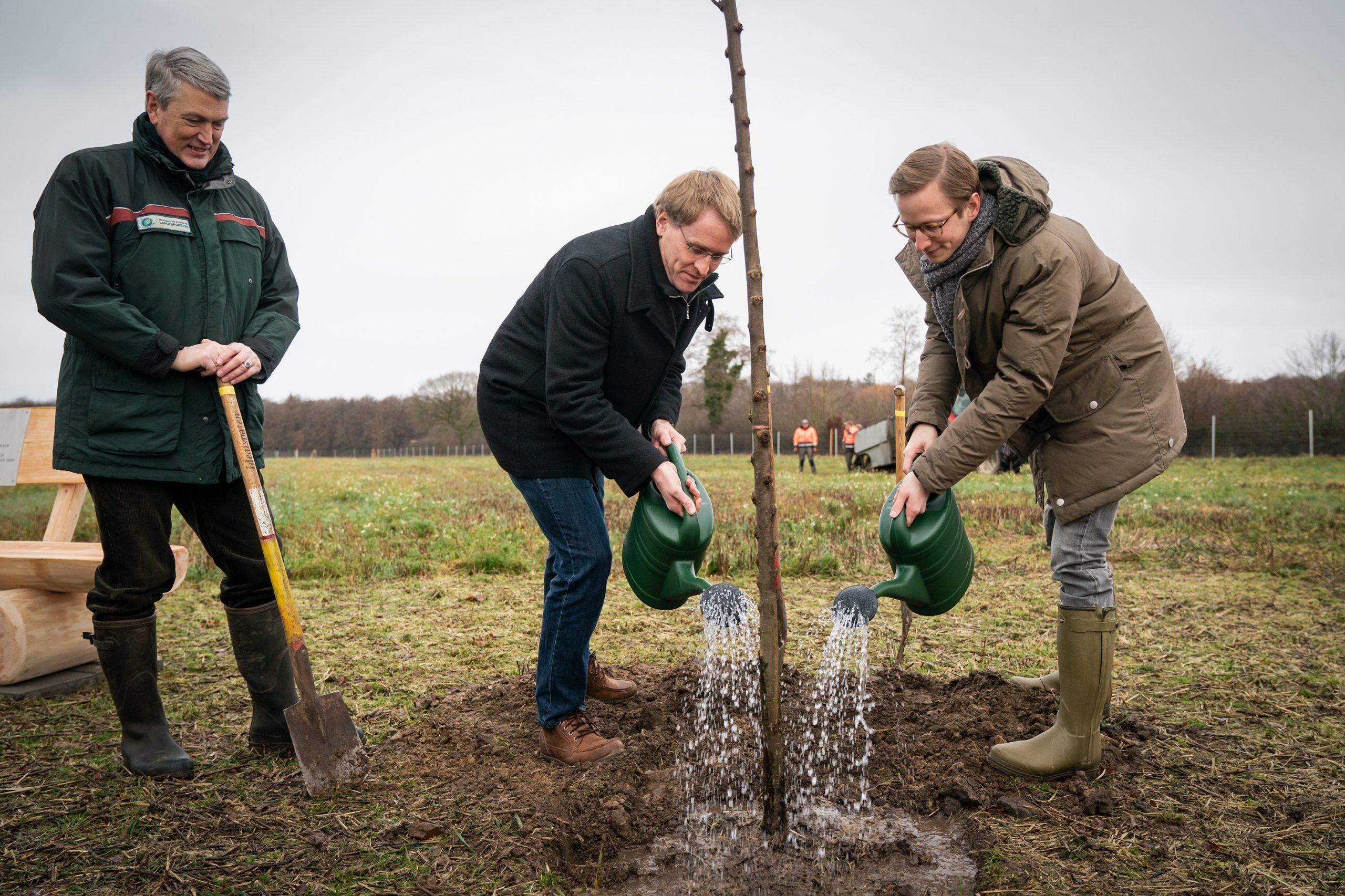 Einheitsbuddeln 2021 Baumpflanzen